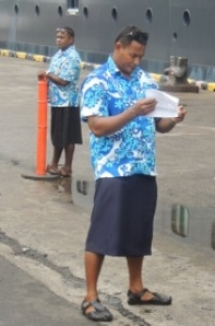 Even the Tour Guides wear skirts
