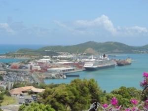 Queen Victoria safely in port