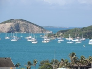Just one of the harbours of Noumea