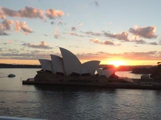 Sydney's golden sunrise