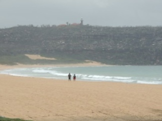 At Palm Beach - this is the sort of beach the Aussies really like