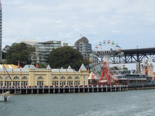The Fun Fair across the harbour