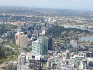 High above Melbourne