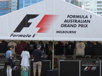 Lots of promotional F1 souvenirs