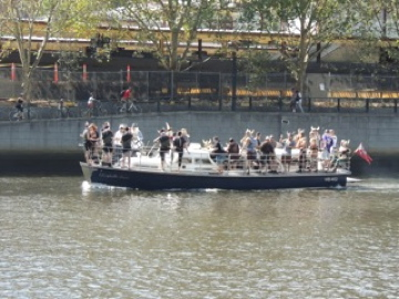 Even the Vikings were out on the river!!