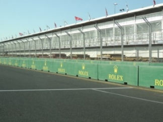 The pit lane - ready and waiting