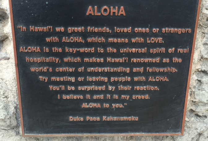 Aloha from Honolulu…